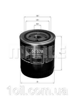 Фильтр масляный KNECHT OC278