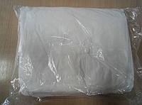 Халат одноразовый белый XL(змейка)