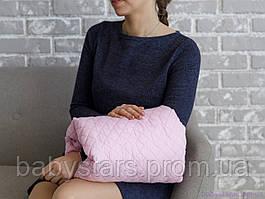 Подушка для кормления на руку, розовая
