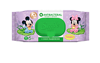 "Детские влажные салфетки ""Микки и Мини"" Smile Baby Disney Antibacterial"