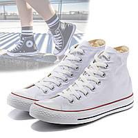 Кеды Converse All Star высокие белые / Кеды высокие в стиле Converse