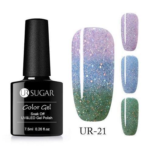 Термо гель-лак для ногтей маникюра термолак 7.5мл UR Sugar, UR-21