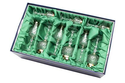 Набор изделий Премиум лента золотая 11мм в подарочной упаковке с тканью, хрусталь, (7841/2)