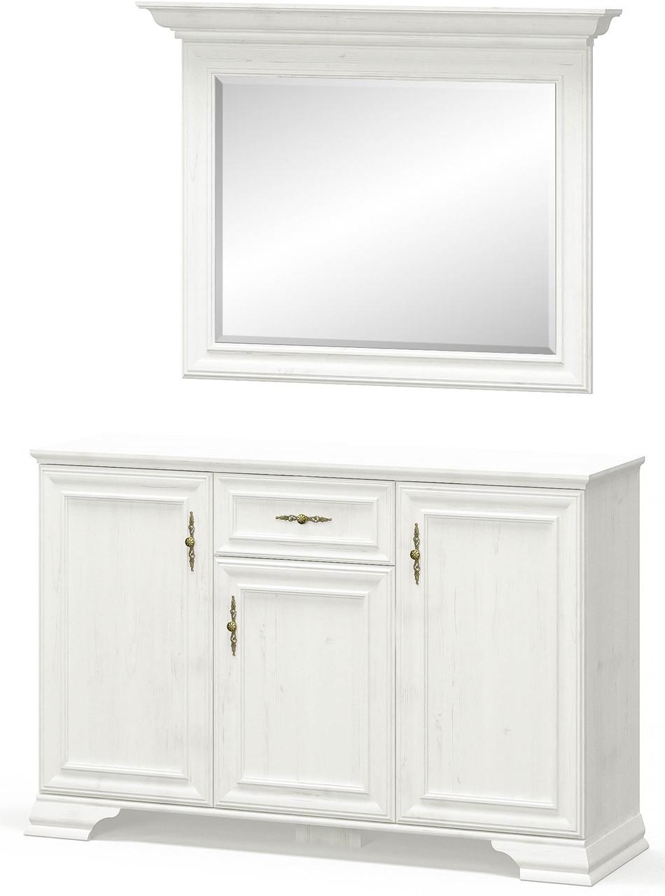 Комод 3Д1Ш + Зеркало Ирис Андерсон пайн Мебель Сервис (137.6х39х166.3 см)