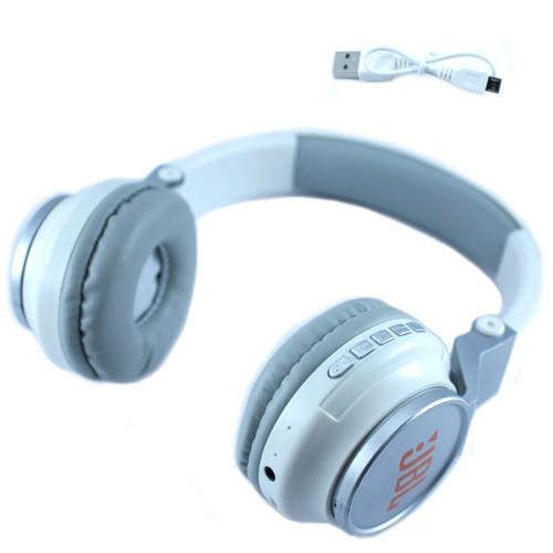 Наушники беспроводные Bluetooth S400BT MicroSD, реплика JBL, белые