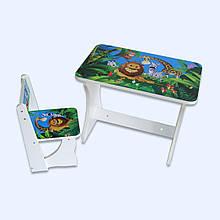 """Детский столик со стулом """"Мадагаскар бел-29"""""""
