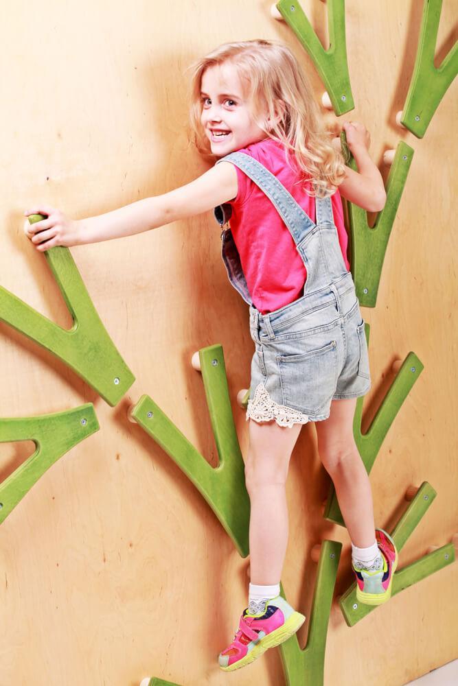 Детский скалодром «Невероятные веточки на каркасе», Размер 1520*1520 мм