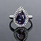 Серебряное кольцо с Александритом, 2312КЦА, фото 2