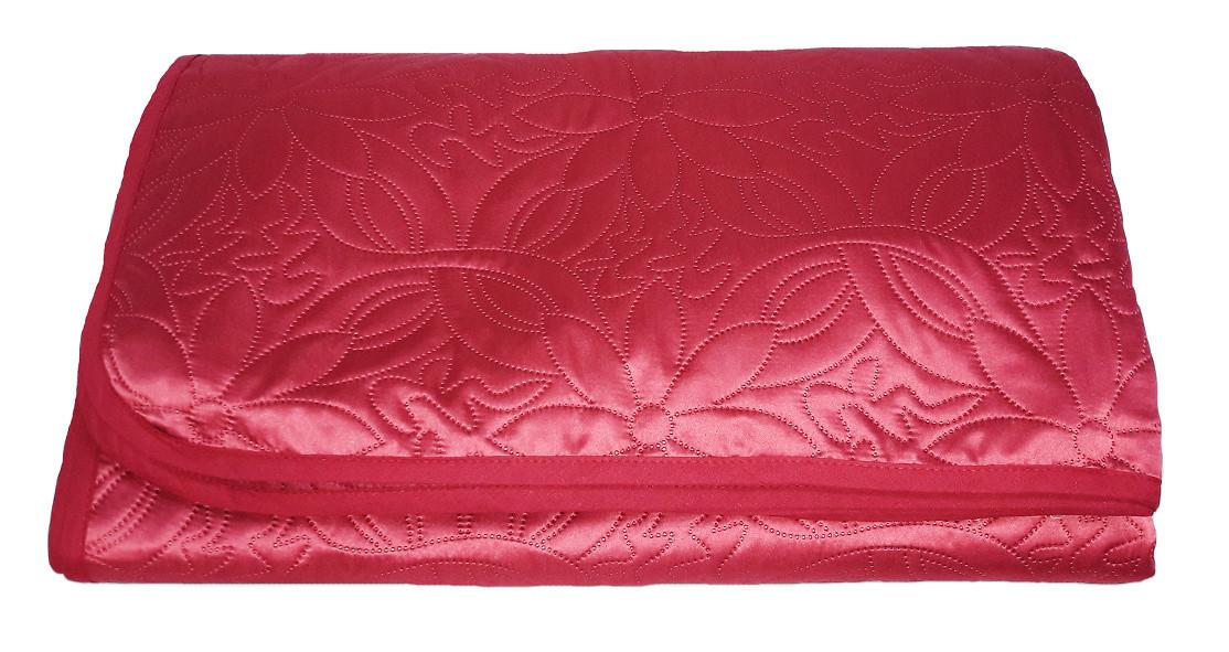 Покрывало Zastelli полуторное 160*210 см полиэстер паяное красное Burgundy арт.14010