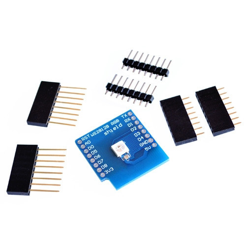 Модуль WS2812B RGB LED Shield для WeMos D1 mini