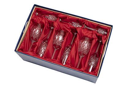 """Набор изделий """"Дипломат"""" в подарочной упаковке с тканью, хрусталь (9356)"""