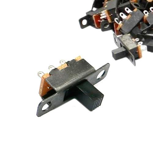 10x Перемикач движковый повзунковий SS12F15VG6 2пол 3pin тумблер