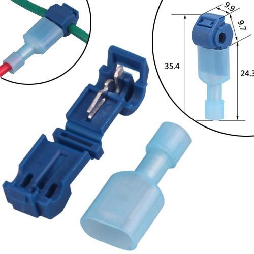 10x Т-образный соединитель ответвитель проводов MT-2, 1.0-2.5мм2 15А
