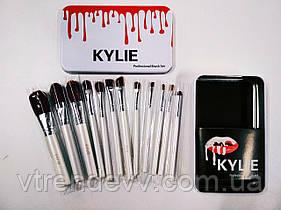 Набор профессиональных кисточек Kylie Professional Brush Set 12 в 1 белый