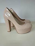 Туфли женские бежевые последний размер 36