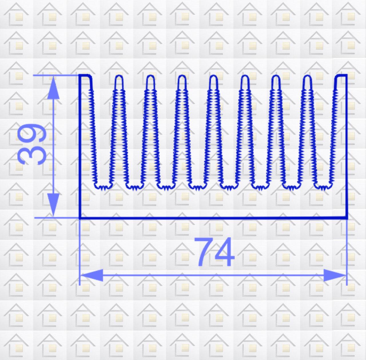 Радиаторный алюминиевый профиль 74х39 без покрытия (радиатор охлаждения)