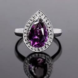 Серебряное кольцо с Александритом, 2312КЦА