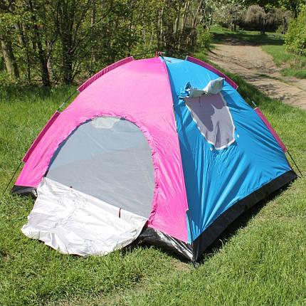 Палатка туристическая дуговая трехместная 200*200 см, фото 2