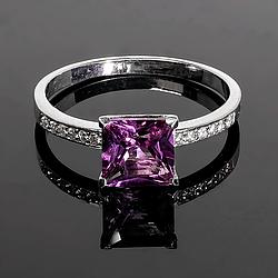 Серебряное кольцо с Александритом, 2313КЦА