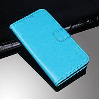 Чехол Idewei для Nokia 6.2 книжка с визитницей голубой