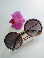Стильные солнцезащитные женские очки градиент круглые (0680), фото 1