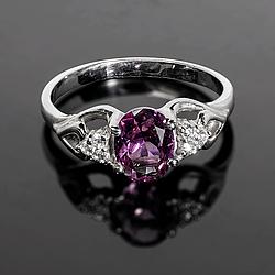 Серебряное кольцо с Александритом, 2314КЦА