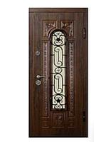 Дверь входная металлическая ПК-139 (КОВКА) Украина МДФ/МДФ VINORIT Дуб темный III ПЕТЛИ