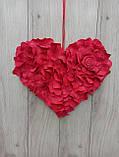 Червоне серце з пелюсток троянд - декор до дня Валентина, весілля, фото 4
