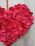 Червоне серце з пелюсток троянд - декор до дня Валентина, весілля, фото 6