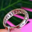 Серебряное кольцо дорожка с фианитами - Женское серебряное кольцо в стиле минимализм, фото 4