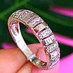 Серебряное кольцо дорожка с фианитами - Женское серебряное кольцо в стиле минимализм, фото 2