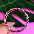Серебряное кольцо дорожка с фианитами - Женское серебряное кольцо в стиле минимализм, фото 3