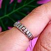 Серебряное кольцо дорожка с фианитами - Женское серебряное кольцо в стиле минимализм, фото 7