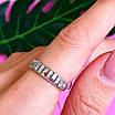 Серебряное кольцо дорожка с фианитами - Женское серебряное кольцо в стиле минимализм, фото 6