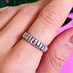 Серебряное кольцо дорожка с фианитами - Женское серебряное кольцо в стиле минимализм, фото 5