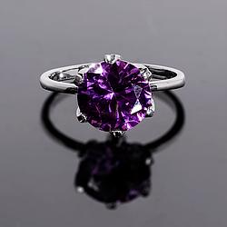 Серебряное кольцо с Александритом, 2315КЦА
