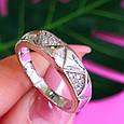 Серебряное кольцо с цирконием Треугольнички, фото 3