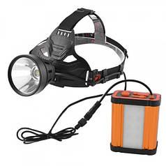 Фонарик-прожектор шахтерский светодиодный W631 с функцией Powerbank