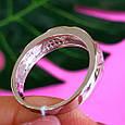 Серебряное кольцо с цирконием Треугольнички, фото 2