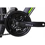"""Велосипед IMPULS MORGAN 29"""" 1,0 черно-салатовый Рама 20"""" 2020г, фото 4"""