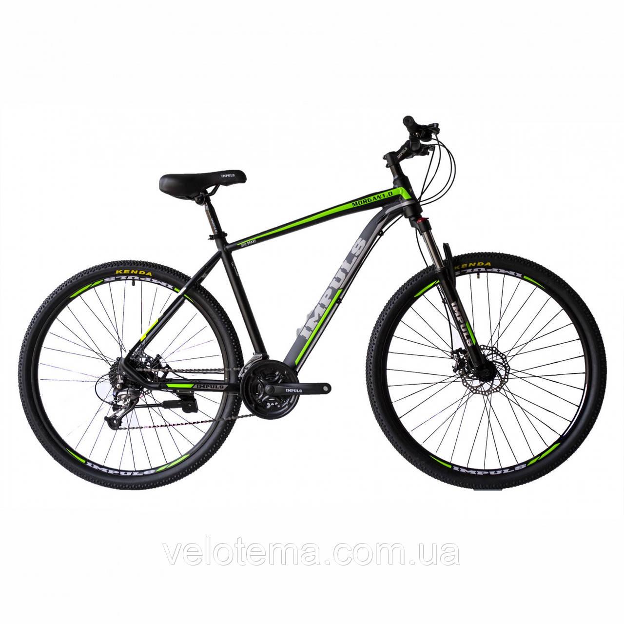 """Велосипед IMPULS MORGAN 29"""" 1,0 черно-салатовый Рама 20"""" 2020г"""