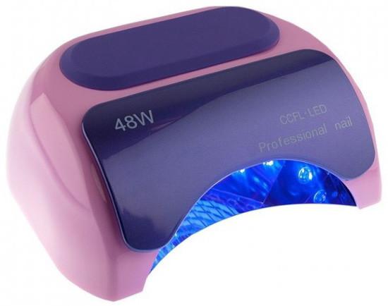 Профессиональная LED-лампа для полимеризации геля CCFL розовая 48W