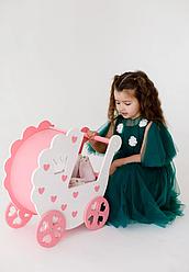 Коляска для ляльки Рожевий