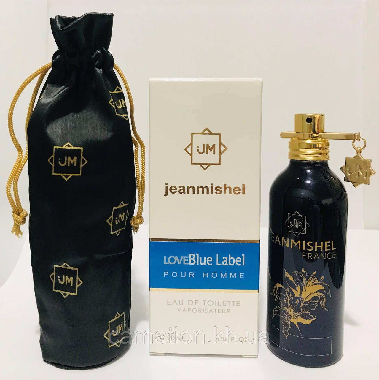 Мужская парфюмированная вода  Jeanmishel LoveBlue Label 90 мл