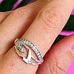 Женское серебряное кольцо с фианитами, фото 9