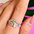 Женское серебряное кольцо с фианитами, фото 7