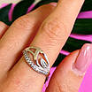 Женское серебряное кольцо с фианитами, фото 6
