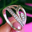 Женское серебряное кольцо с фианитами, фото 5