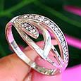Женское серебряное кольцо с фианитами, фото 4