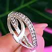 Женское серебряное кольцо с фианитами, фото 3